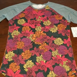 Lularoe shades of red floral and gray Randy